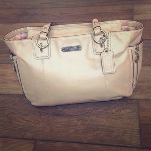 Coach tan purse.